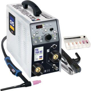 TIG-Schweißanlage TIG 168 DC HF mit Zubehör 10 - 160 A gasgekühlt GYS