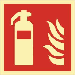 Brandschutzzeichen DIN EN ISO 7010 L200xB200 mm Feuerlöscher Kunststoff
