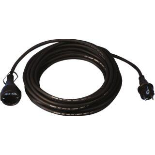 Schutzkontaktverlängerung 16 A 250 V 10 m H05RR-F 3 x 1,5 mm² schwarz