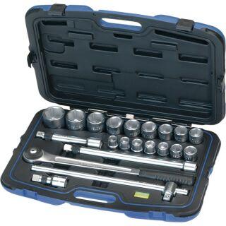 Steckschlüsselsatz 21-teilig 3/4 Zoll Schlüsselweiten 19-50 mm Anzahl Zähne 72 6-Kant HEYTEC
