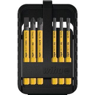 Wechselklingensatz Power slimBit electric 6-teilig Schlitz/PH/(+/- SL/PZD)Torx® WIHA