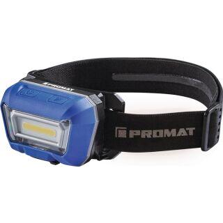 LED-Kopfleuchte 3,8 V 1600 mAh 1 x Li-Ion Polymer 3 W Blisterverpackung PROMAT