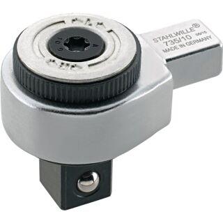 Einsteckumschaltknarre 735/5 3/8 Zoll 9 x 12 mm Chrom-Alloy-Stahl STAHLWILLE
