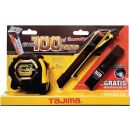 Cuttermesser-Set CONVEX Bandmaß, Cutter und 10 Ersatzklingen TAJIMA
