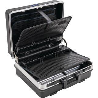 Schalenkoffer B500xT200xH420mm mit Werkzeugmodul 29 l ABS Kunststoff Alu-Rahmen PROMAT