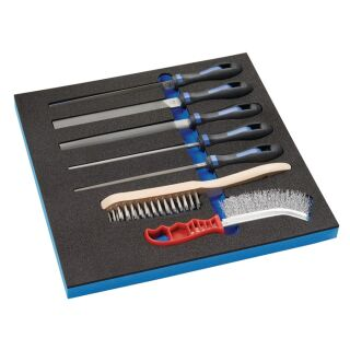 Werkzeugmodul 7-teilig 2/3-Modul Feilen, Drahtbürsten PROMAT
