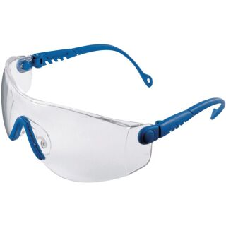 Schutzbrille Op-Tema EN 166-1FT Bügel blau, Scheibe klar Polycarbonat HONEYWELL