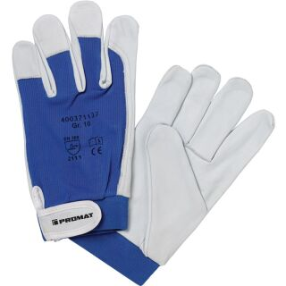 Handschuhe Donau natur/blau Nappaleder EN 388 PSA-Kategorie II PROMAT
