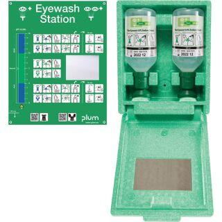 Augenspülstation 2 x 0,5 l Haltbarkeit 3 Jahre(ungeöffnete Flasche) PLUM