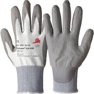Schnittschutzhandschuhe Camapur Cut 620  weiß/grau EN 388 PSA-Kategorie II HPPE-Faser mit Polyurethan HONEYWELL