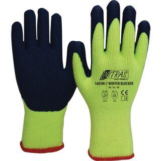 Kälteschutzhandschuhe Winter Blocker gelb/blau EN 388, EN 511 PSA-Kategorie II Baumwoll-Schlingengewebe NITRAS