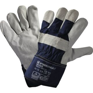 Handschuhe Weser Größe 10 blau Rindkernspaltleder EN 388 PSA-Kategorie II PROMAT