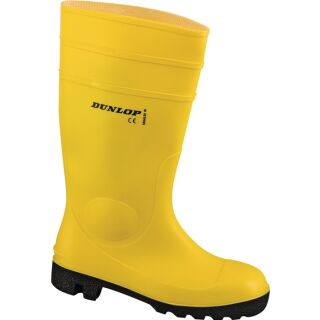 Sicherheitsstiefel PROTOMASTOR gelb/schwarz PVC S5 SRA EN ISO 20345 DUNLOP