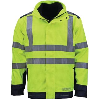 Wetter-, Flamm- und Warnschutzjacke gelb/blau ASATEX