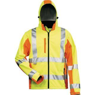 Warnschutz-Softshelljacke JIM gelb/orange ELYS