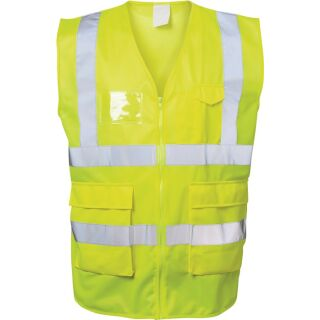 Warnweste ALBIN gelb EN ISO 20471 Kl. EN ISO 13688 SAFESTYLE