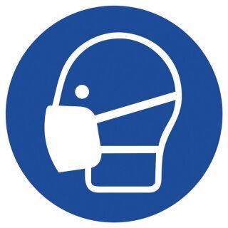 Gebotszeichen ASR A1.3/DIN EN ISO 7010 Maske benutzen Kunststoff