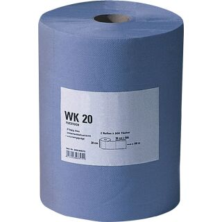 Putztuch WK 20 L380xB380ca. mm blau 2-lagig, volumengeprägt 500 Tücher / Rolle PROMAT
