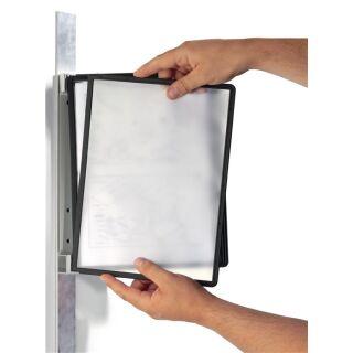 Wandhalter 5 Sichttafeln mit Profilrahmenf. DURABLE