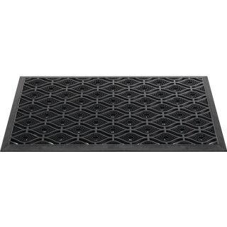 Fußmatte schwarz Gummi L450xB750xS15mm