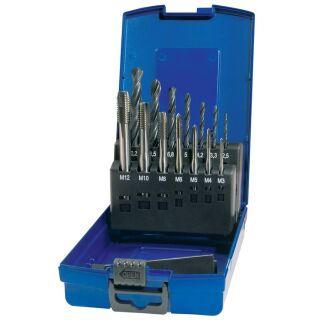 Maschinengewindebohrersatz DIN 371/376 C M3-M12 14 teilig HSS Kunststoffkassette PROMAT