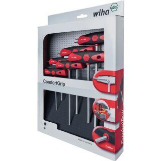 Stiftschlüsselsatz 334DS K6 6-teilig SW 2,5-8 mit Quergriff und Seitenabtrieb WIHA