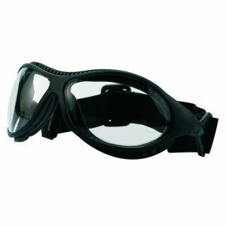 Schutzbrille Miner, schwarz/klar